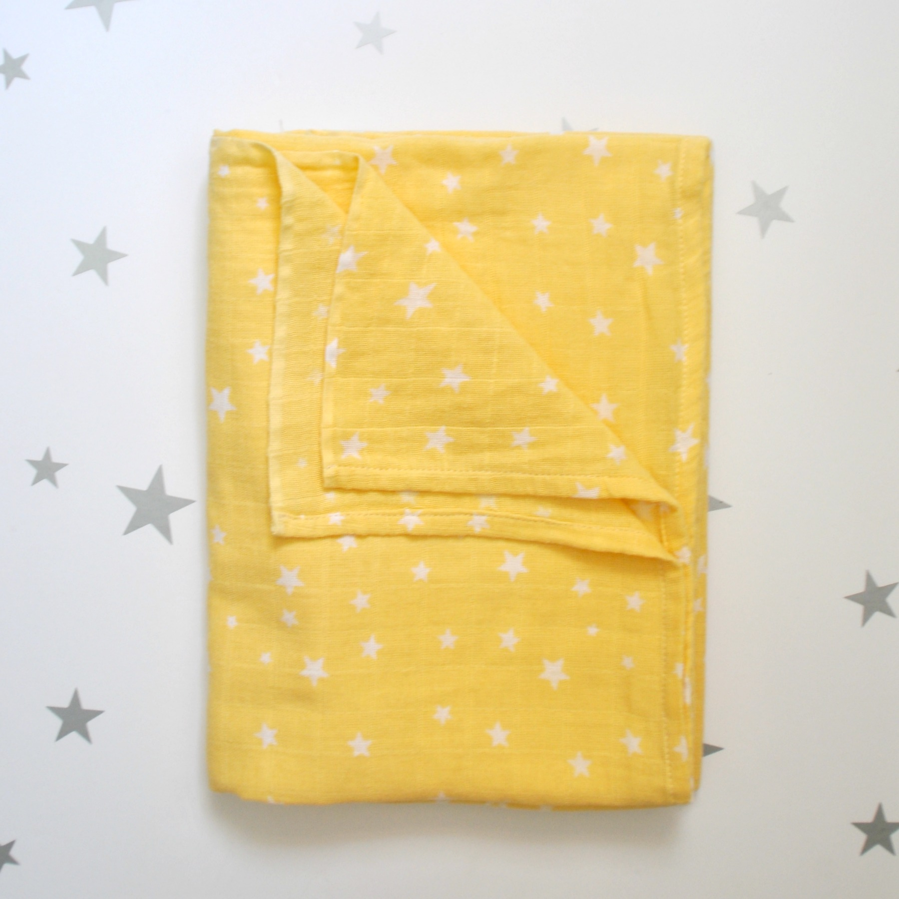 שמיכת טטרה גדולה צהוב כוכבים