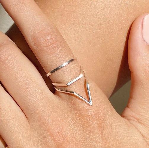 Broken Lines Ring Sterling Silver
