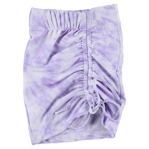 חצאית מיני כיווצים טאי דאי MISS KIDS סגול - 2-16
