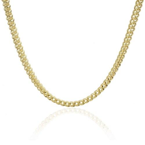 שרשרת זהב חוליות דגם חיטה 50 סמ