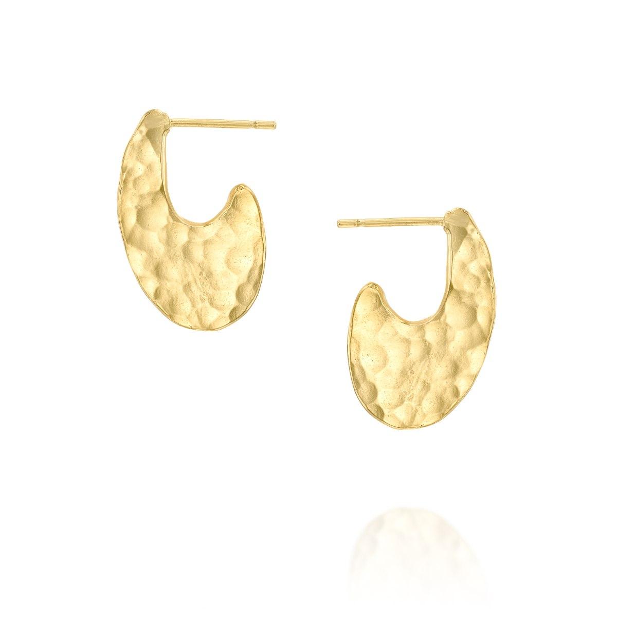 עגילי סהר מצופים זהב 1 מיקרון נועה טריפ noa tripp