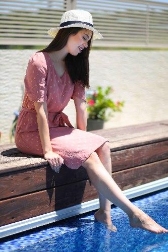 שמלת רונה ורודה