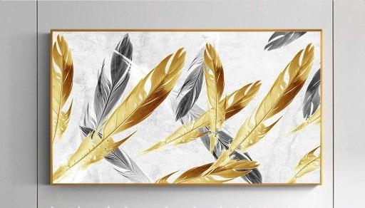 תמונת קיר נוצות זהב