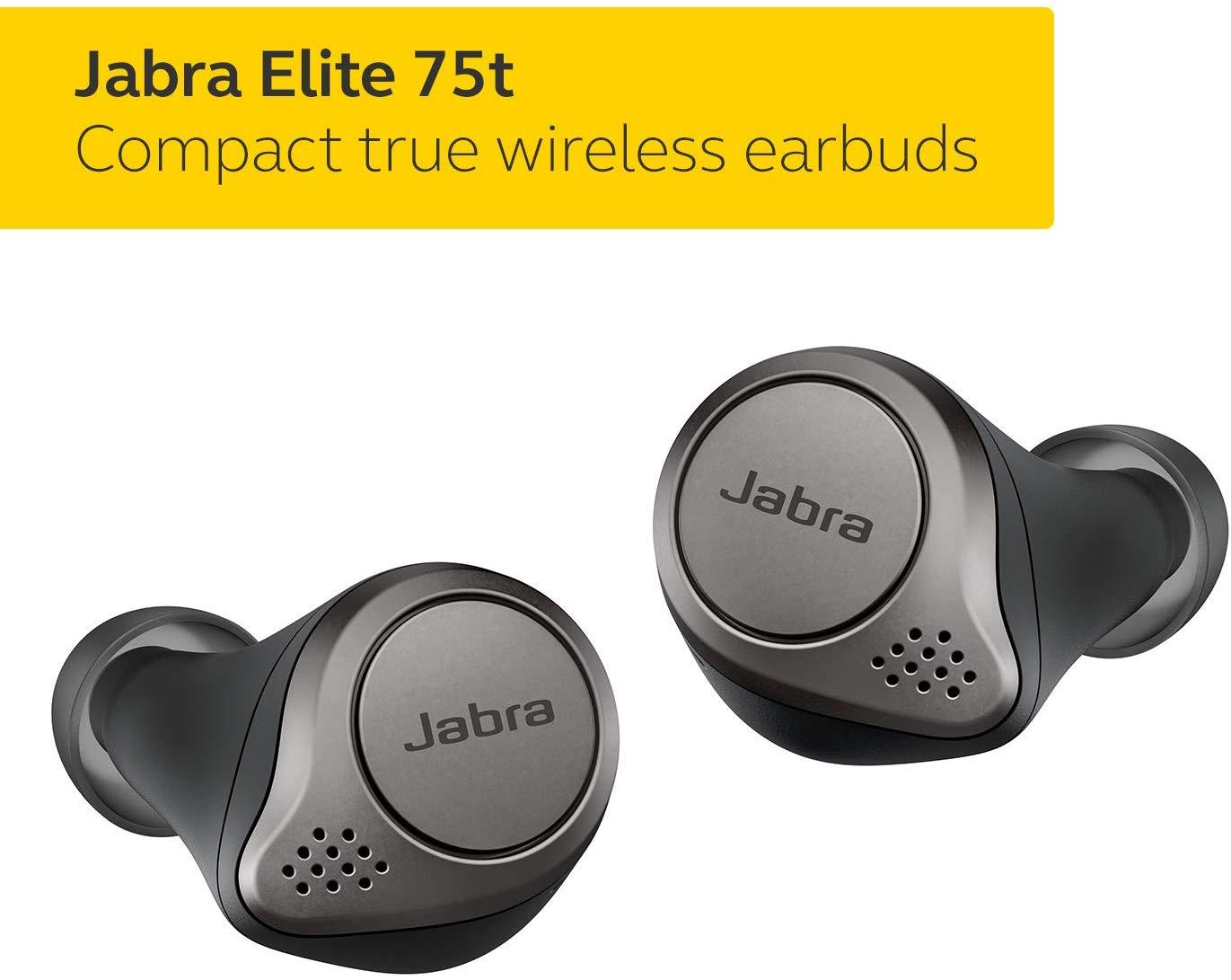 אוזניות ללא חוטים Jabra Elite 75t True Wireless