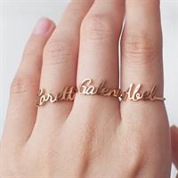 טבעת שם מותאמת אישית במבצע