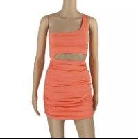 שמלת מיני שיק - כתפייה אחת 