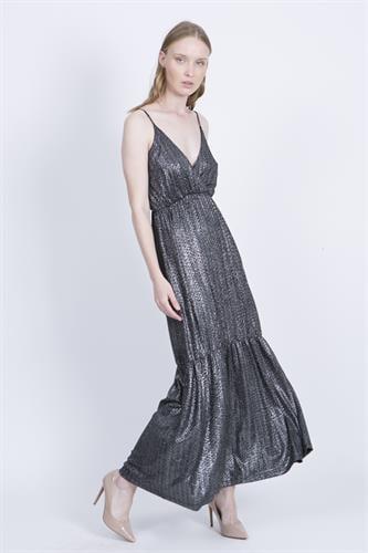 שמלת אנה שחור וכסף לורקס