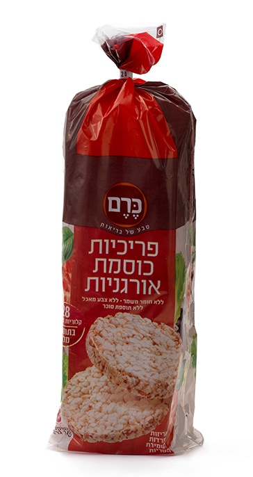 פריכיות כוסמת אורגניות עם מלח - מארז 145 גרם