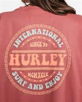HURLEY GROOVY T-SHIRT - RED