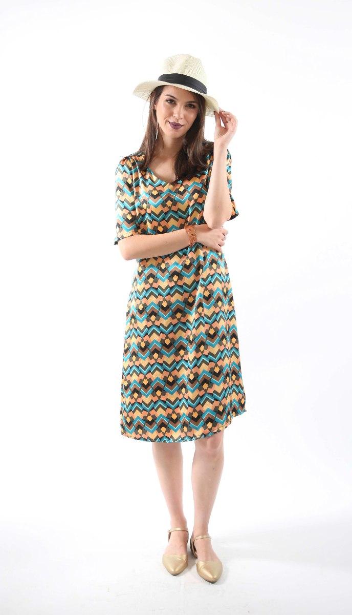 שמלת רונה בד גאומטרי