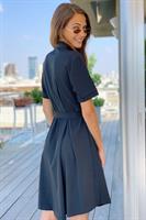 שמלת דיאנה מכופתרת + חגורה