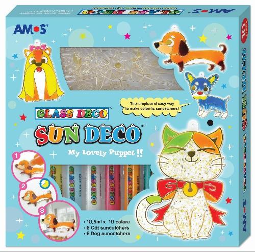 קיט צבעי חלון +צורות כלב וחתול ANUS