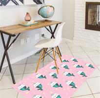 שטיח PVC | שטיח ויניל דגם חתולים רקע ורוד