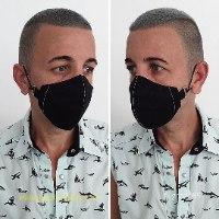 schwartze schutzenmaske - face coverings