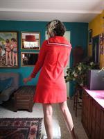 שמלת מיני אדומה חורפית מידה S/M