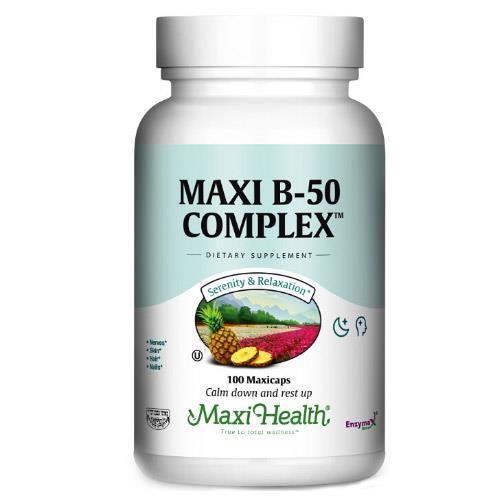 -- B-50  קומפלקס -- Maxi Health, מכיל 250 כמוסות