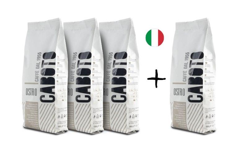 מבצע 3+1 קג פולי קפה 100% רובוסטה Ostro , מחיר ליח' 37.5 שח