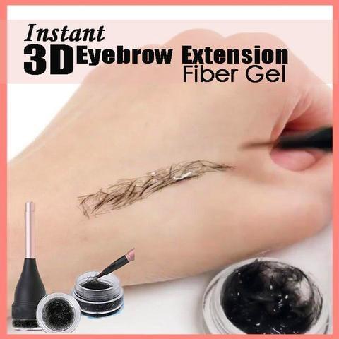 ג'ל 3D סיבי שיער סינטטי ליצירת גבות מושלמות