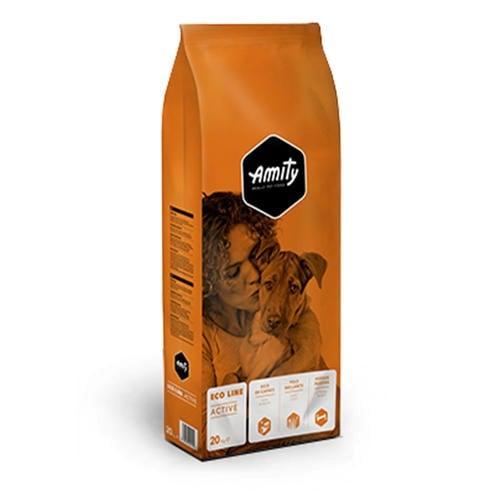 """אמיתי מזון יבש לכלבים פעילים על בסיס בשר 32% חלבון 20 ק""""ג"""
