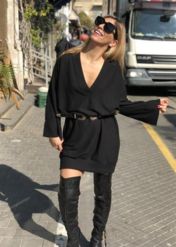 שמלת סטייסי שחורה