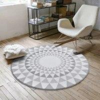 שטיחים עגולים בצבעים לבנים - מומלץ!