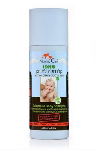 שמפו קלנדולה לתינוק מרכיבים צמחיים מאמי קר Mommy Care