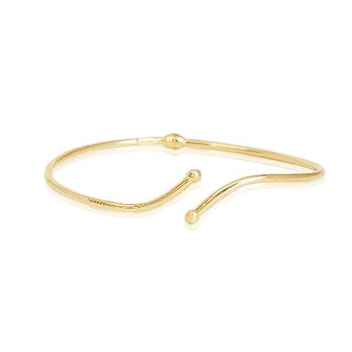 צמיד זהב קשיח נפתח דק לאישה