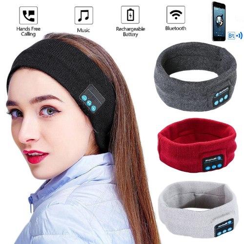 סרט ראש עם אוזניות בלוטוס (Bluetooth) מובנות
