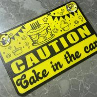 Caution Cake in the car sign - English or Franch