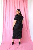 שמלת מיה פליסה BLACK