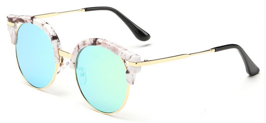 משקפי שמש Cat eye מעוגלות קלאסיות לוהטות יוניסקס UV400 במגוון צבעים קיץ 2016