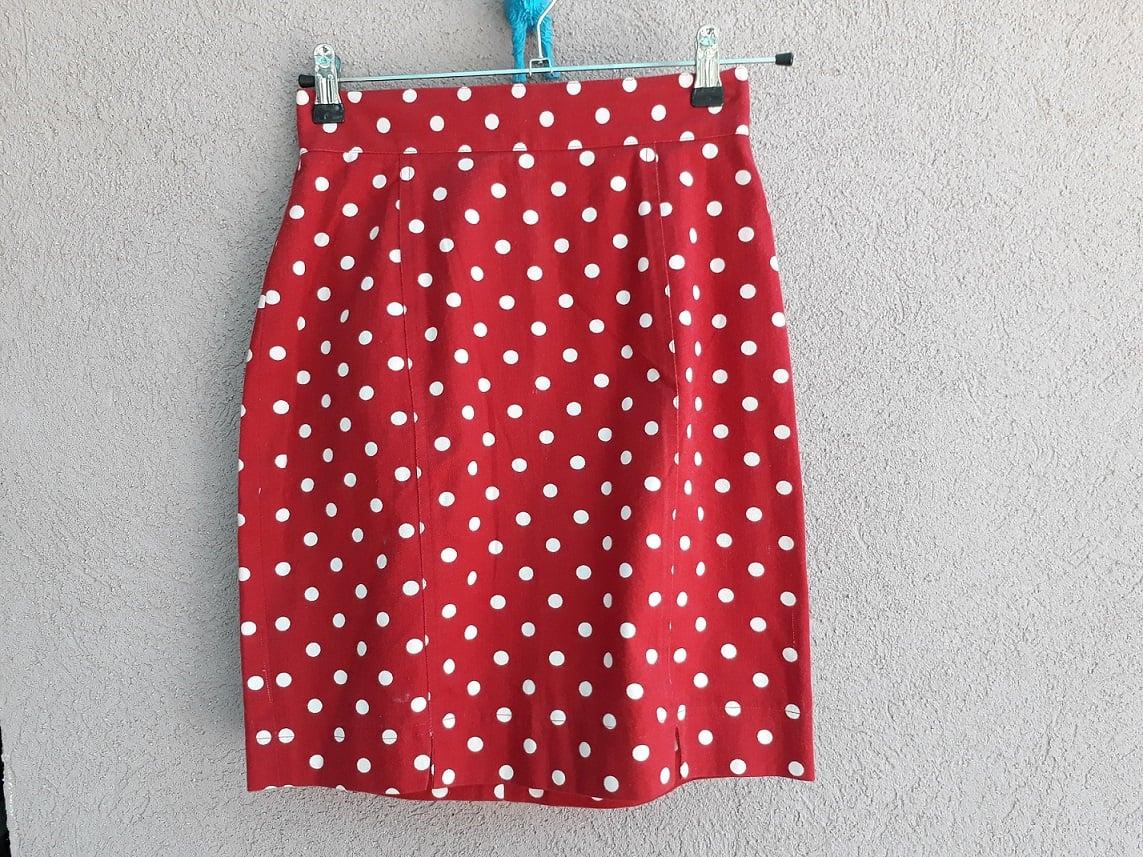 חצאית נקודות מתוקה משנות ה-80 מידה S