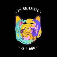 חולצת טי - My Soulmate is a Dog