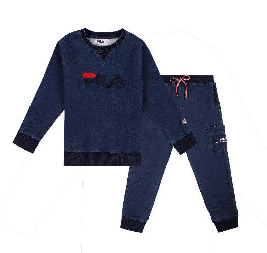 חליפת ג׳ינס רך בייבי בנים FILA - מידות 6 עד 2 שנים