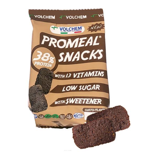 מבצעי 1+1|חטיף חלבון PROMEAL SNACKS תוצרת חברת VOLCHEM האיטלקית (6 חטיפי חלבון בשקית) טבעוני