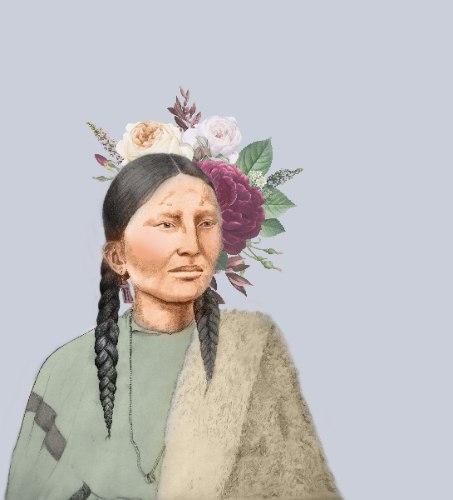 הדפס קנבס - הלוחמת האינדיאנית פרטינוז