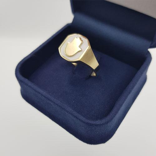טבעת זהב חמסה