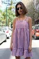 שמלת וולן משבצות