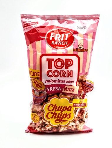 Chupa Chups Popcorn בטעם תות שמנת