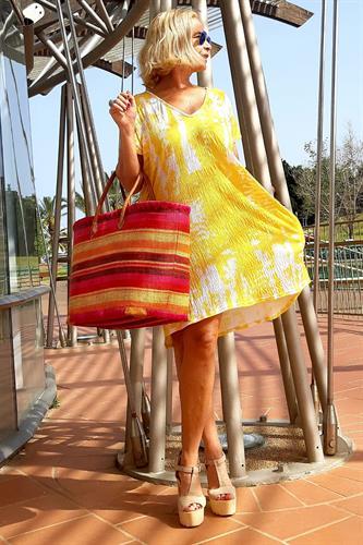 שמלה אוברסייז קצרה