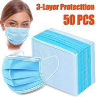 50 יחידות מסיכות כירורגיות - כחול או לבן - תלת שכבתית תקן CE - חד פעמיות מכון התקנים