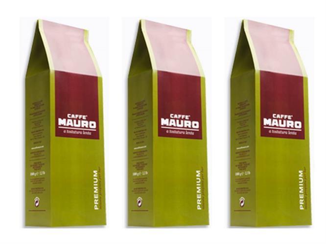 קפה מאורו פרימיום 3 קג Caffe Mauro