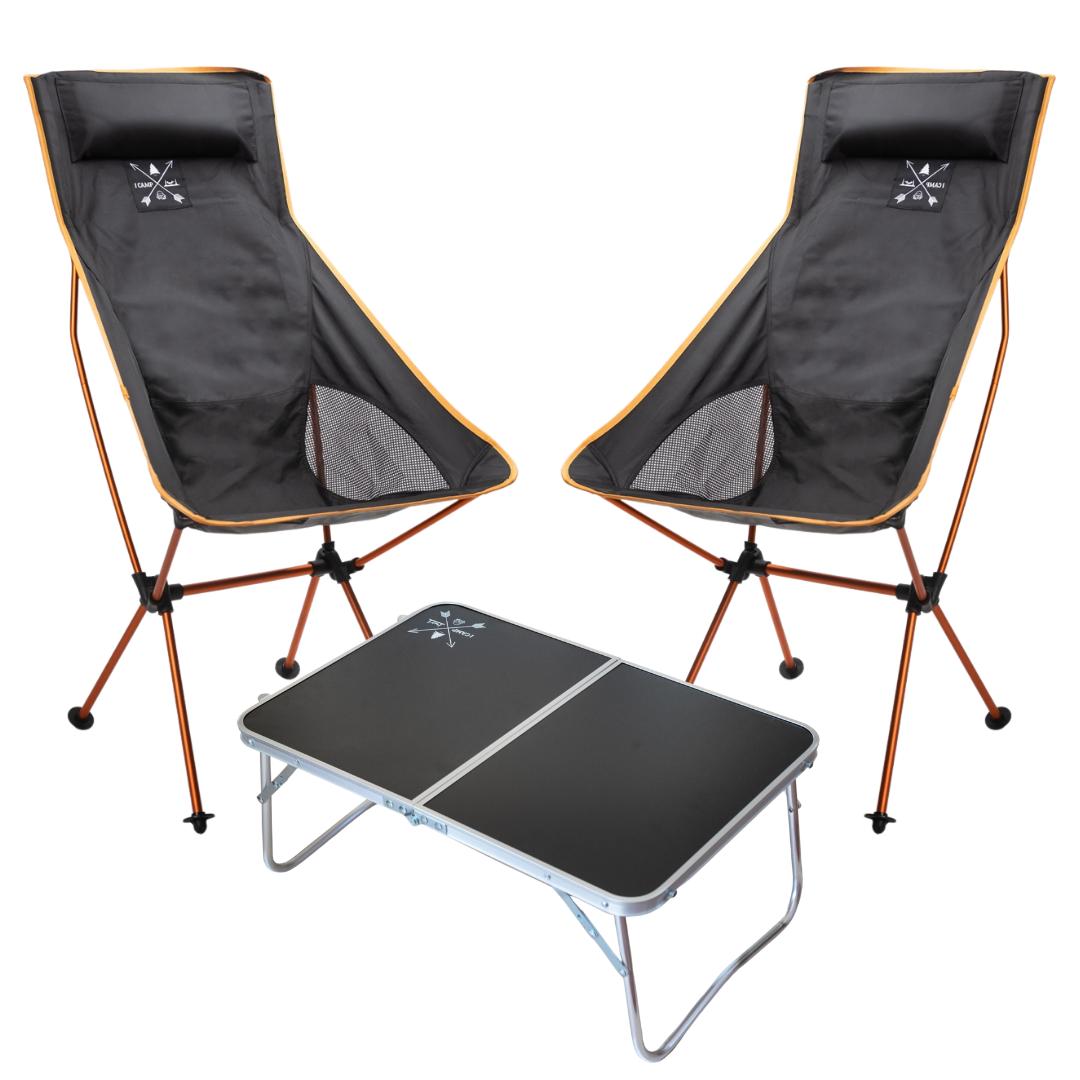 זוג כסאות PICKUP XL + שולחן MINI COFFEE