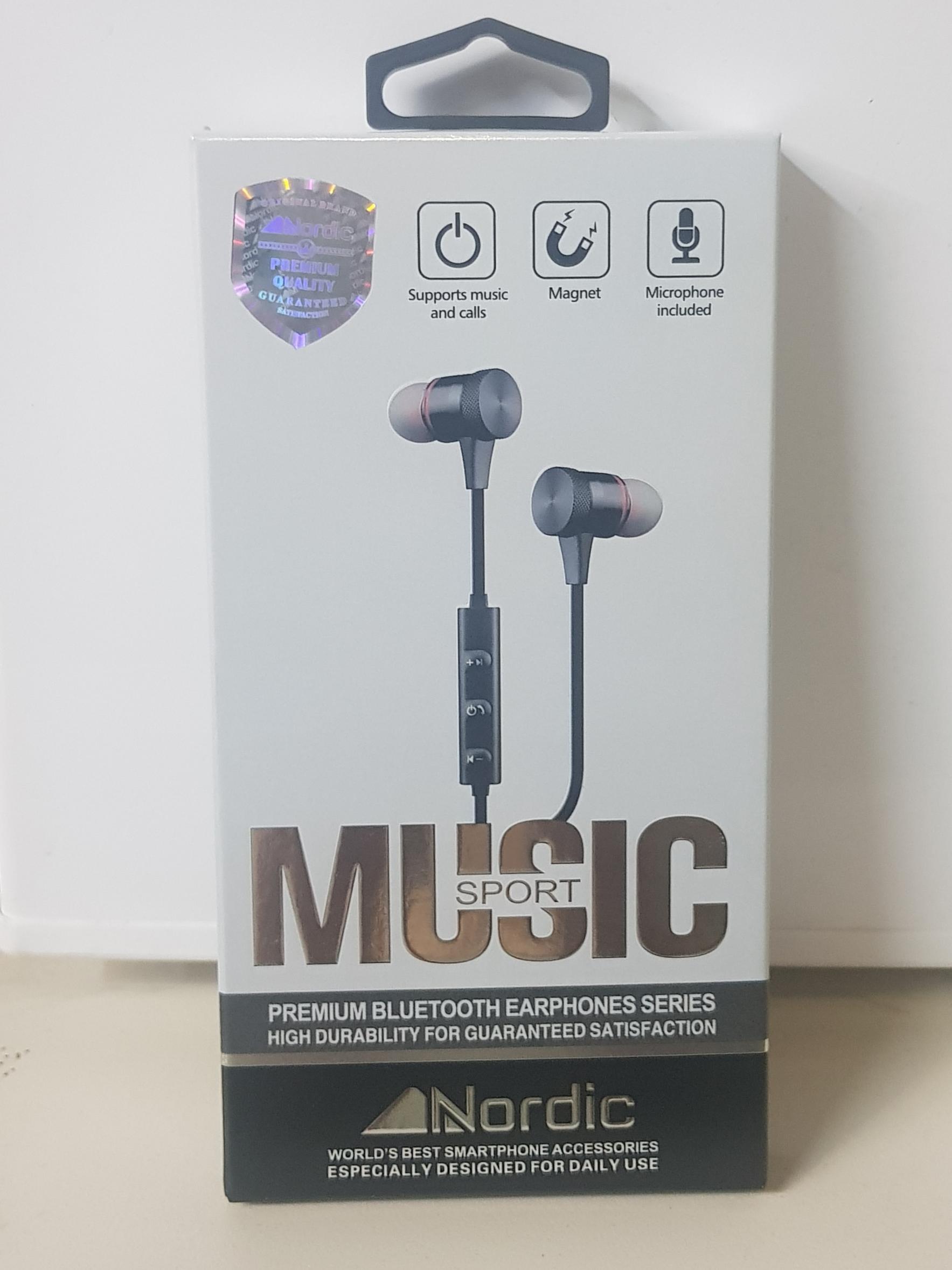 אוזניות בלוטוס ספורט עם מגנט של חברת Nordic