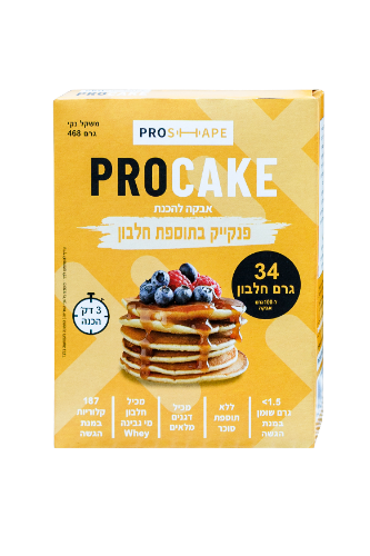 PRO-CAKE|פנקייק חלבון כשר חלב ישראל 34 גרם חלבון