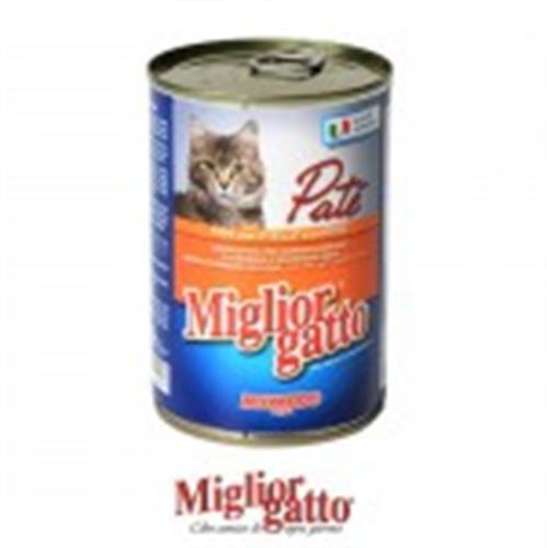 שימורים לחתול מיגליאור פטה עגל וגזר 410 גרם בקופסה