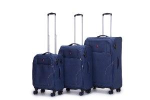 סט 3 מזוודות סופר איכותיות SWISS Xplorer  - צבע כחול כהה