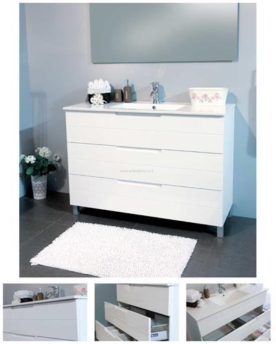 סטרייט ארון אמבטיה עומד 3 מגירות