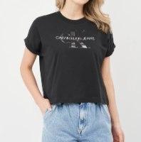 נשים | CALVIN KLEIN DONNA T SHIRT BLACK