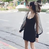 שמלת אלכסיס שרוול נפוח